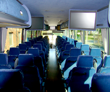 Our Fleet: Charter Bus Transportation Michigan | National Trails, Inc. - bus-interior